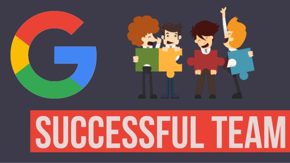 Google successful team with puzzle pieces