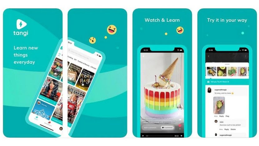 Google's new video app Tangi's features including watch and learn