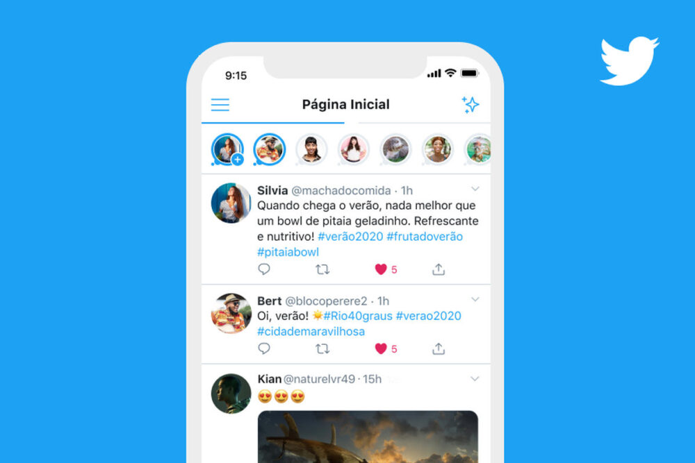 Twitter's Stories function Fleets