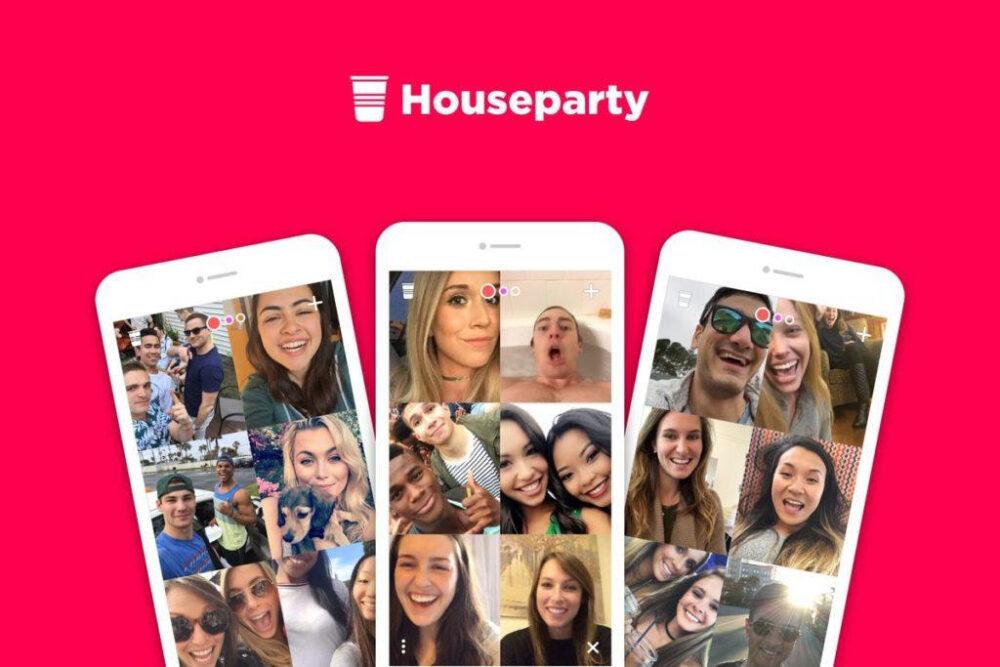 Screen shots of the app Houseparty