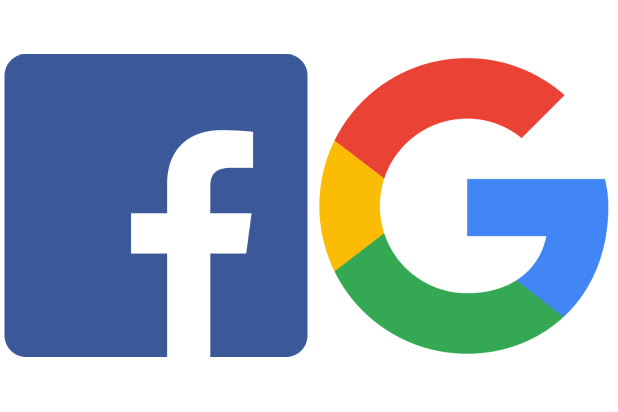 Facebook and Google logo
