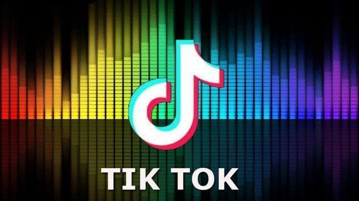 TikTok logo colourful background