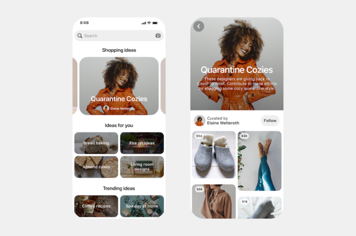 Pinterest's new shopping feature
