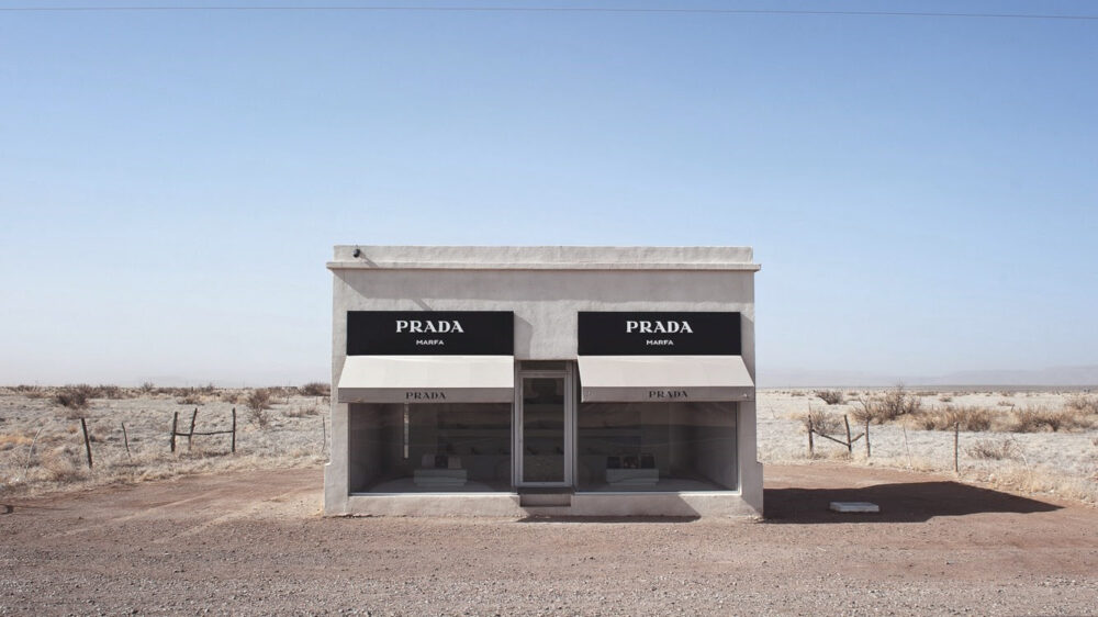 Prada store in the desert