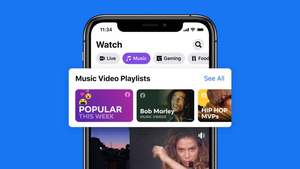 Facebook Watch Music video playlists