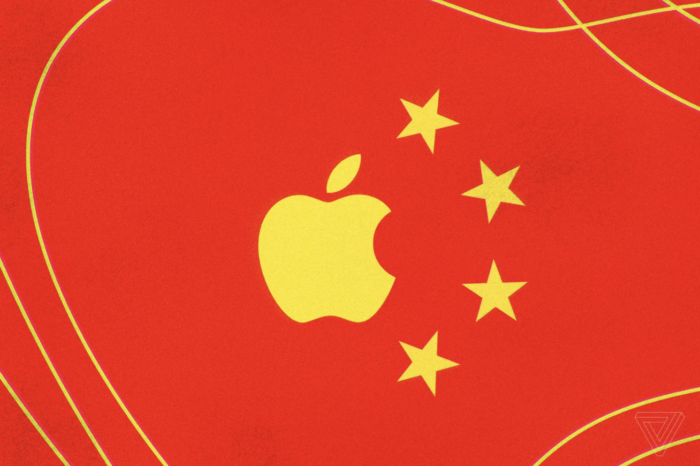 Merged flag of Apple and China