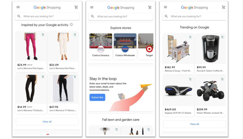 Free google shopping